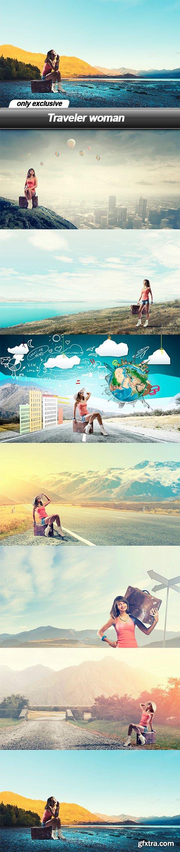 Traveler woman - 7 UHQ JPEG