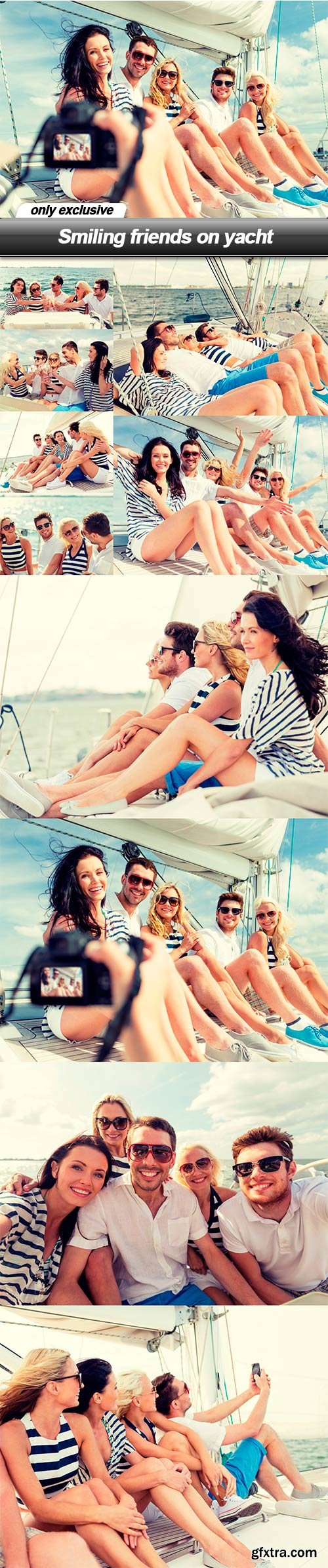 Smiling friends on yacht - 10 UHQ JPEG