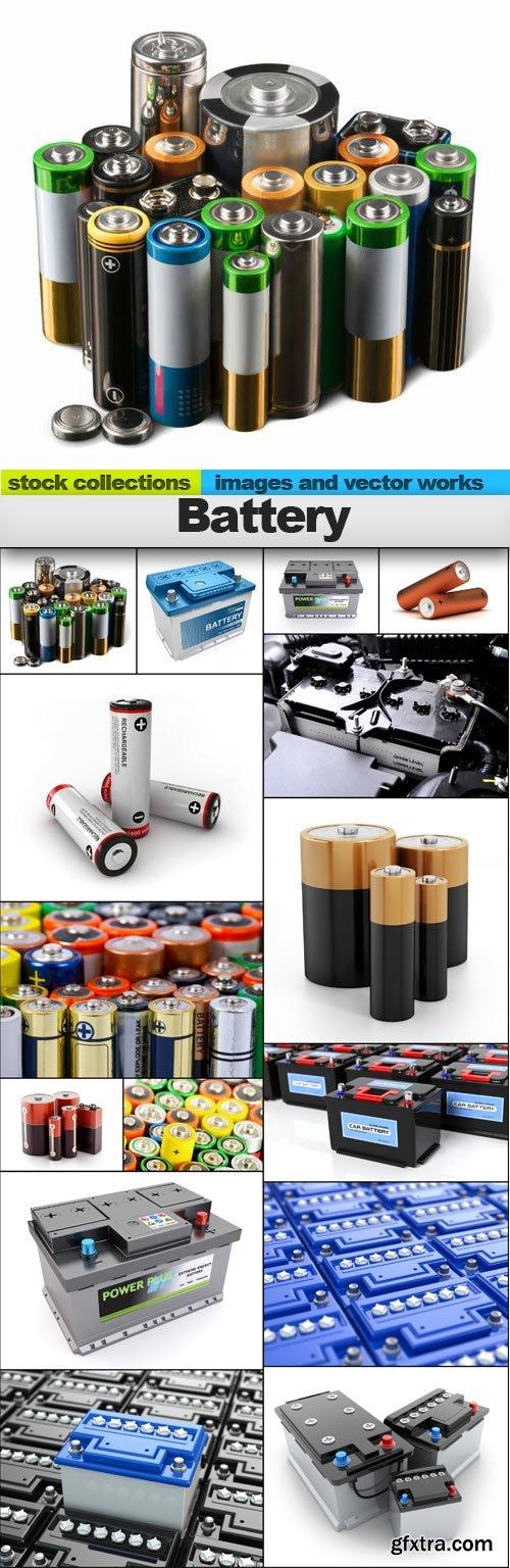 Battery, 15 x UHQ JPEG