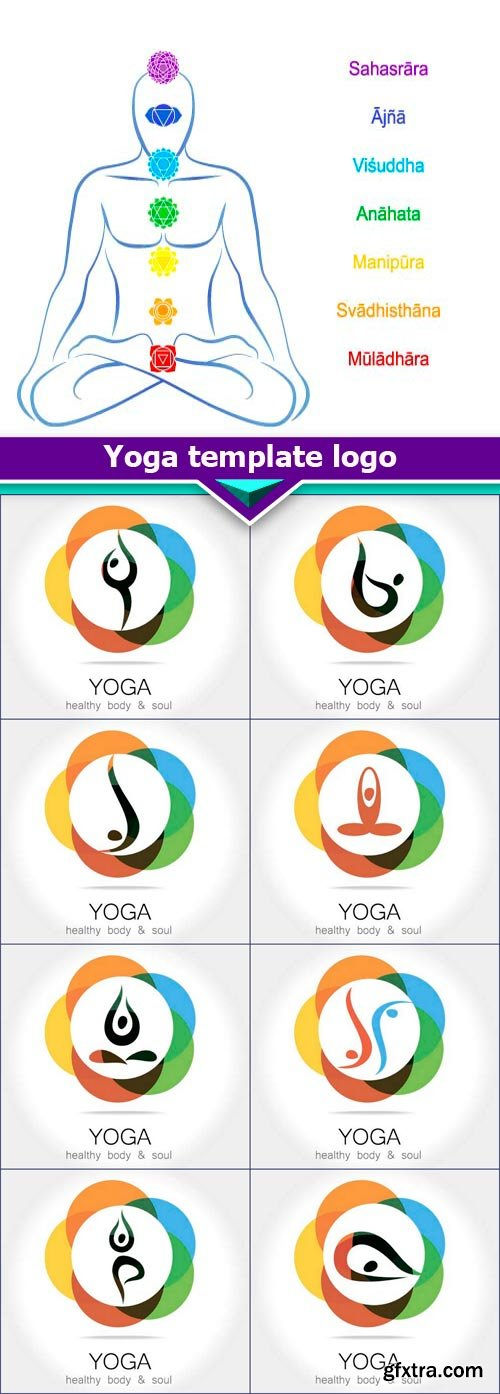 Yoga template logo 9X EPS