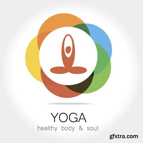 Yoga template logo 9X EPS