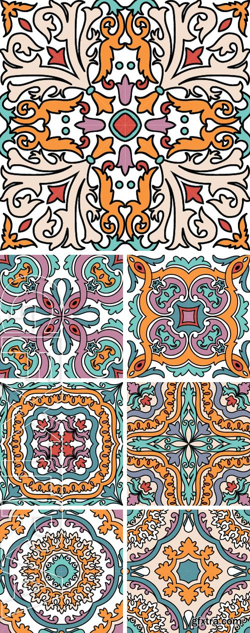 Stock Vectors - Vector seamless ornamental tile background. Italian style