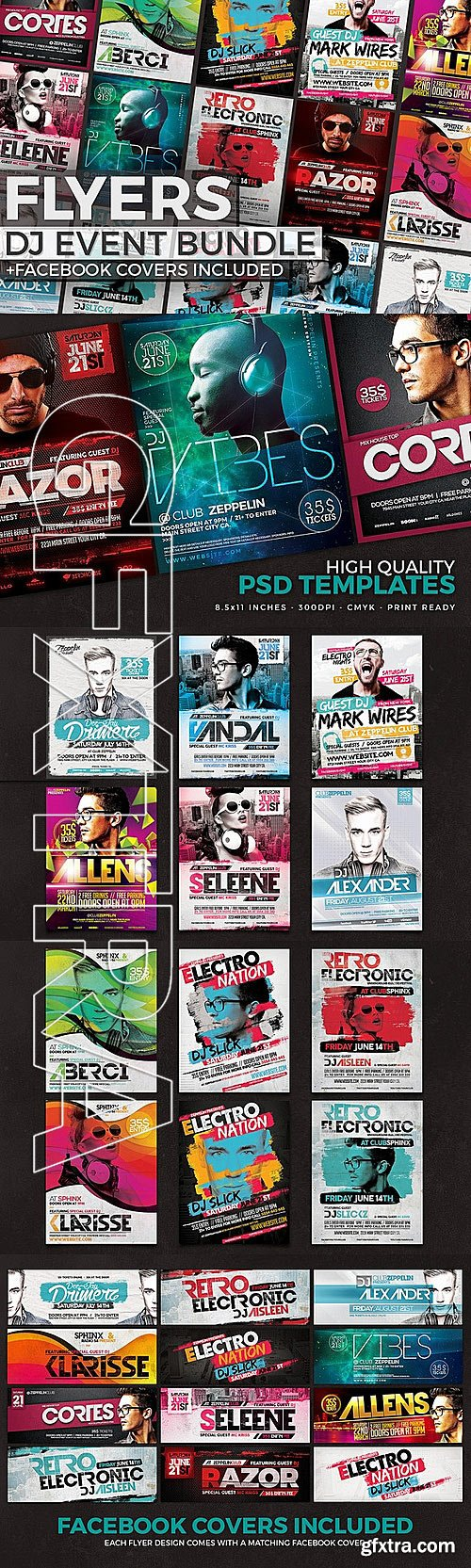 CM - 12 DJ Event Flyers + FB Covers 335702