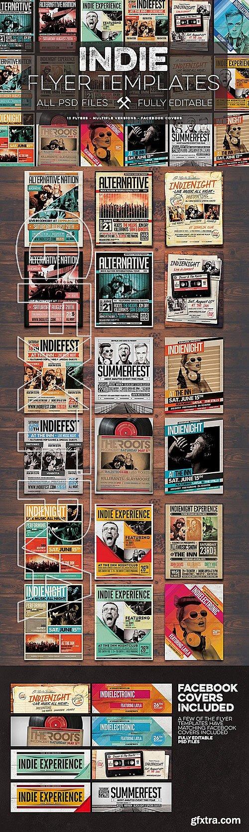 CM - 12 Indie Flyers Bundle + FB Covers 335278