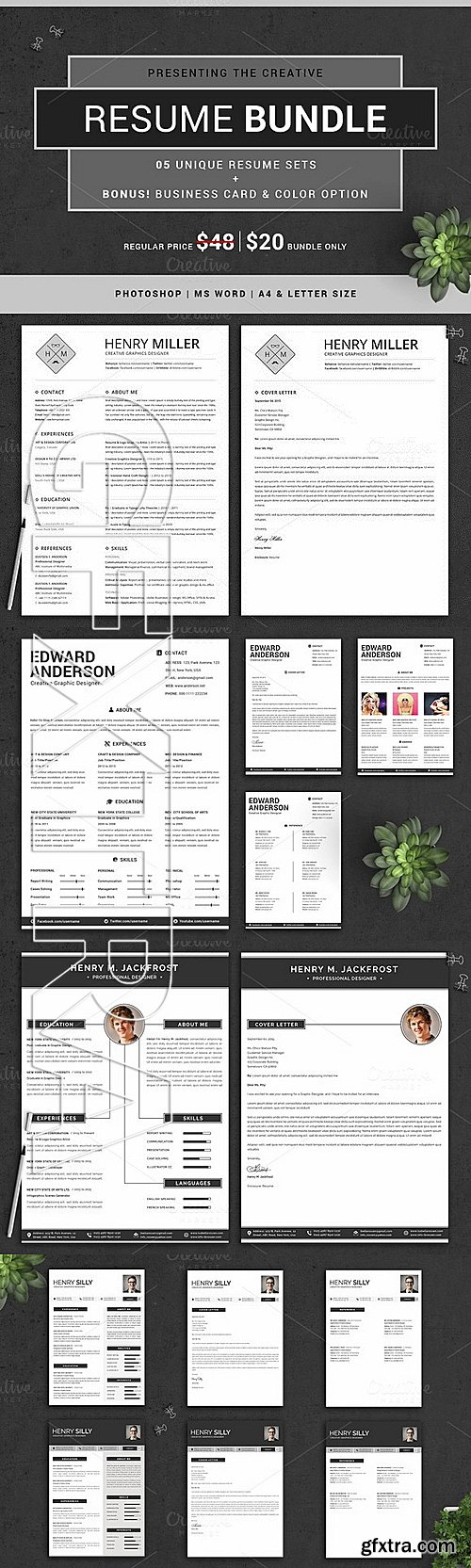 CM - The Creative Resume Bundle 336190