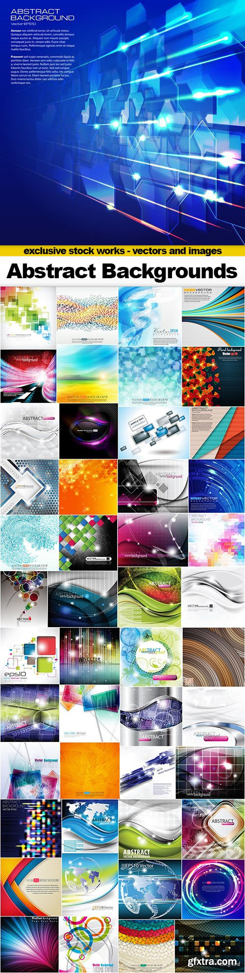 Abstract Vector Backgrounds - 50xEPS