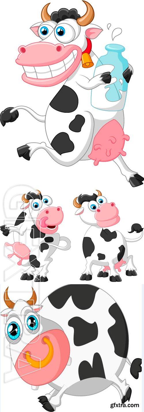 Stock Vectors - Happy cartoon cow illustration