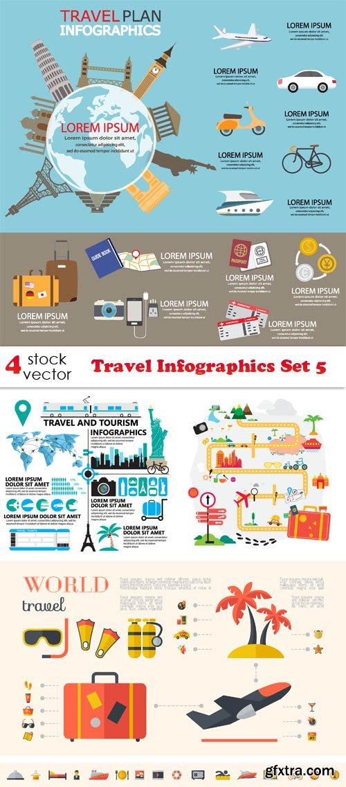 Vectors - Travel Infographics Set 5