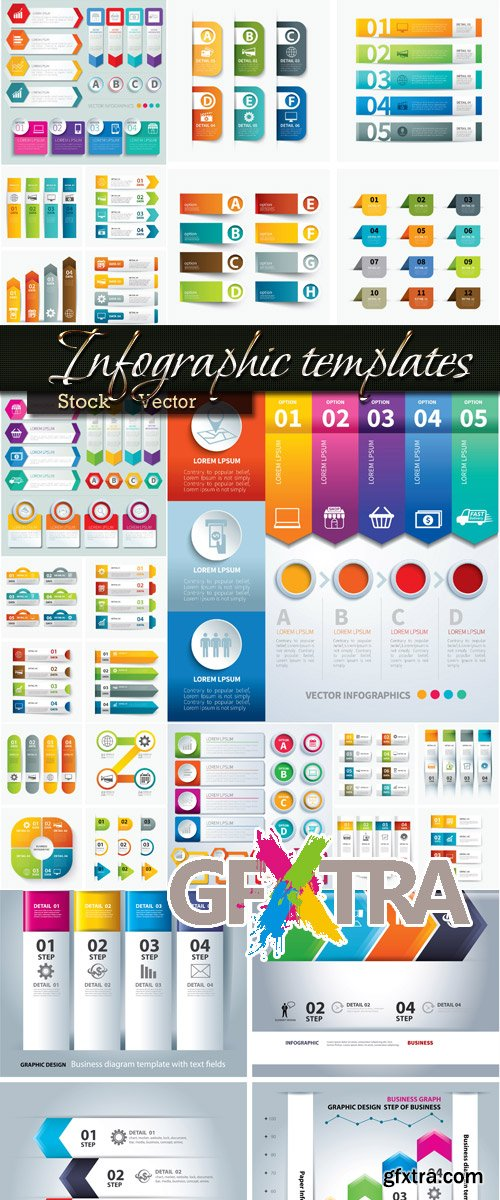 Big selection in Vector - infographics Templates