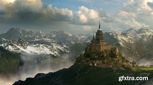 Animating a Mountain Scene Matte Painting in Photoshop and NUKE