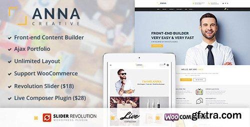 ThemeForest - Anna v1.0 - Creative Multipurpose WordPress Theme - 11620730