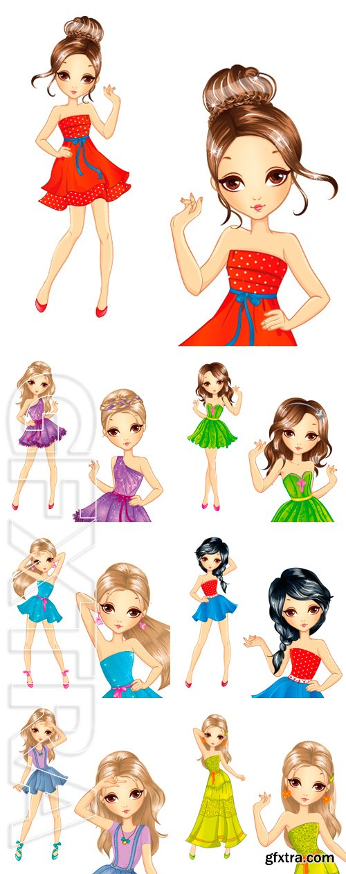 Stock Vectors - Fashion beautiful girl