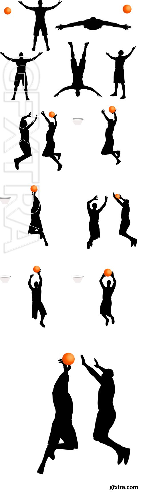 Stock Vectors - Vector Image - basketball player man silhouette isolated on white background