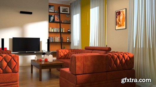 Rendering Interiors in 3ds Max and Maxwell Render