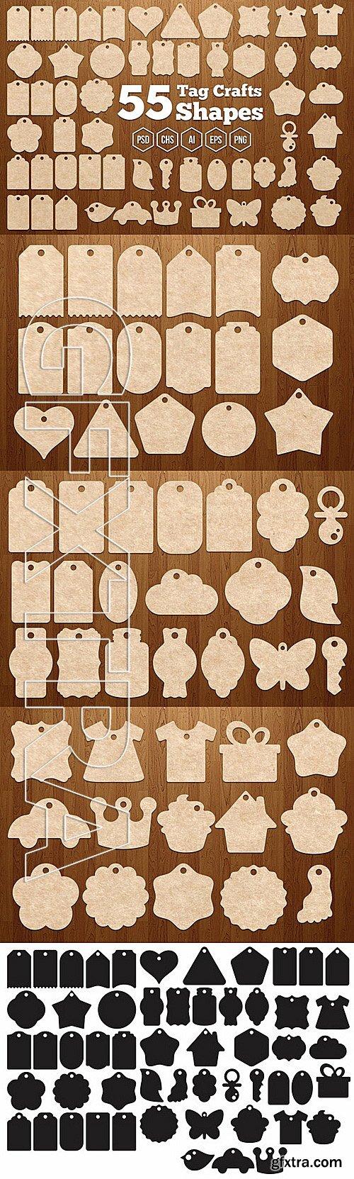 CM - 55 Tag Crafts Shapes 337524