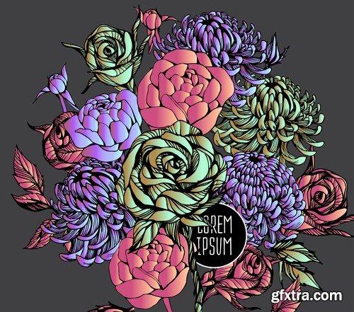 Beautiful flower background - 15 EPS