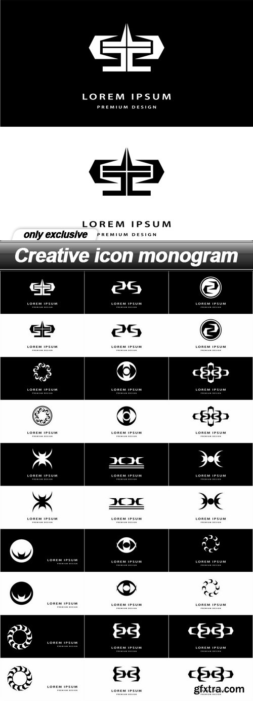 Creative icon monogram - 15 EPS