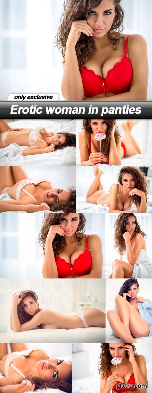 Erotic woman in panties - 10 EPS