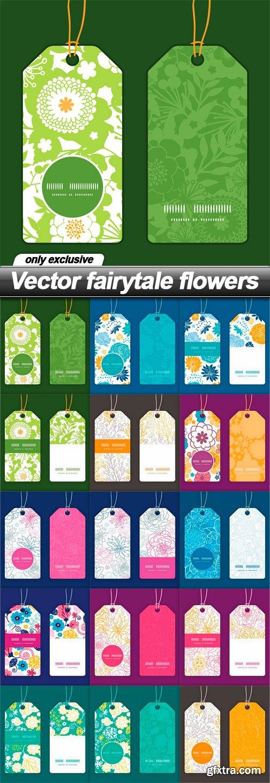 Vector fairytale flowers - 15 EPS