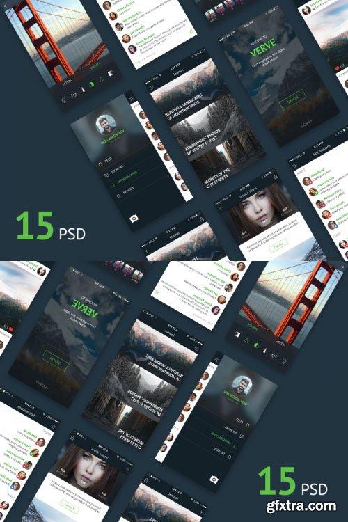 Instagram Concept Social App PSD