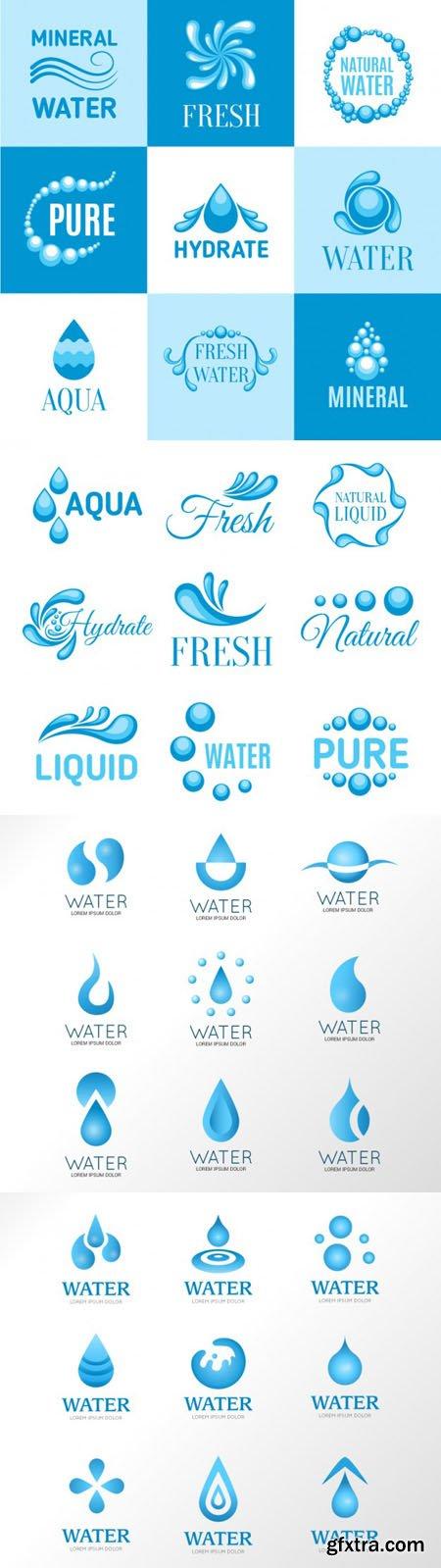 Variety of Water & Aqua Logos in Vector