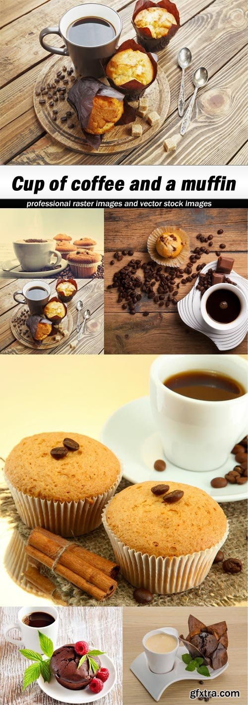 Cup of coffee and a muffin