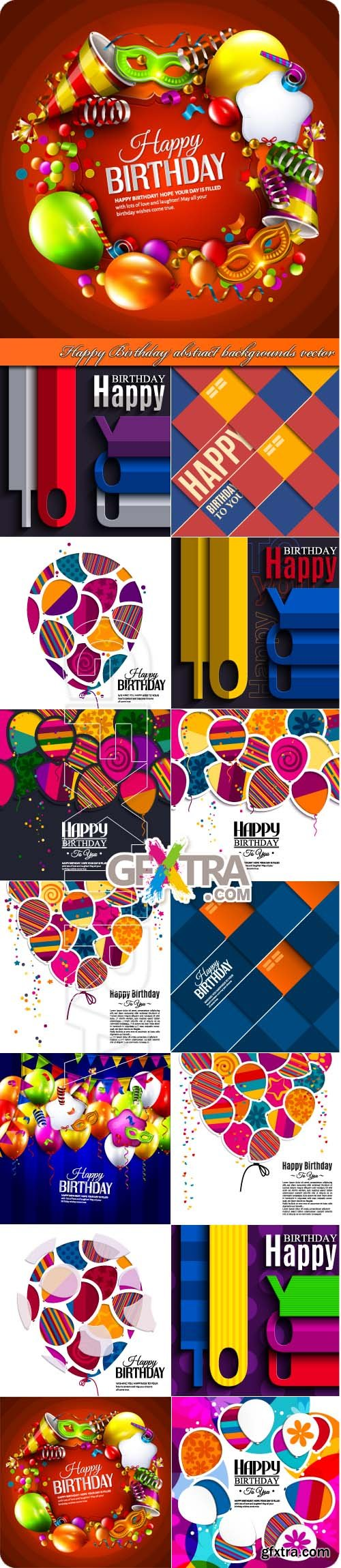 Happy Birthday abstract backgrounds vector