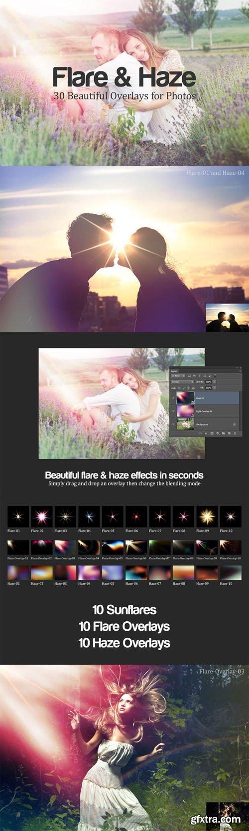 Flare & Haze: 30 Overlays for Photos - CM 16227