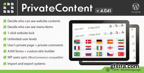 CodeCanyon - PrivateContent v4.041 - Multilevel Content Plugin - 1467885