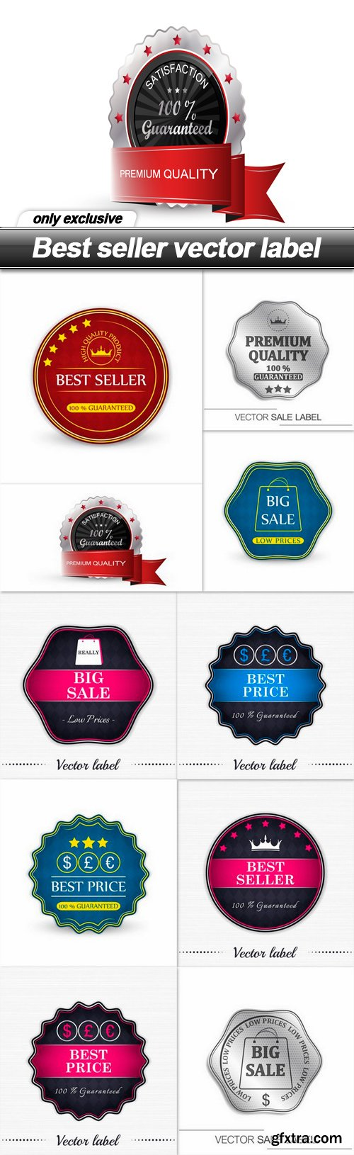 Best seller vector label - 10 EPS