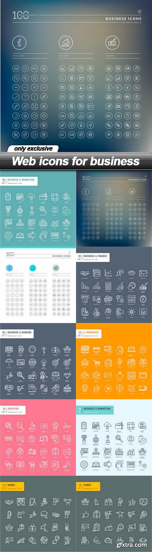 Web icons for business - 10 EPS