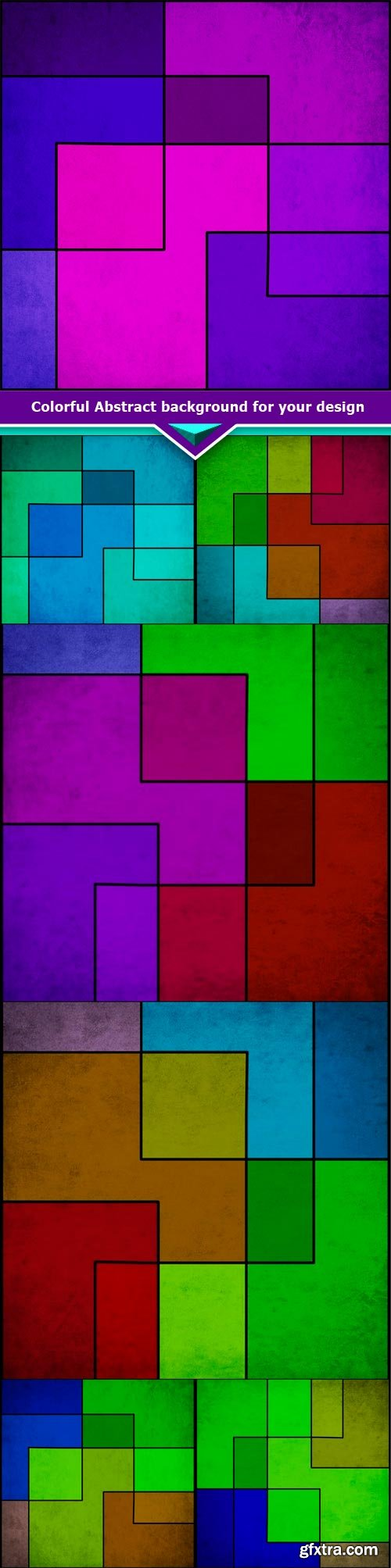 Colorful Abstract background for your design 7x JPEG