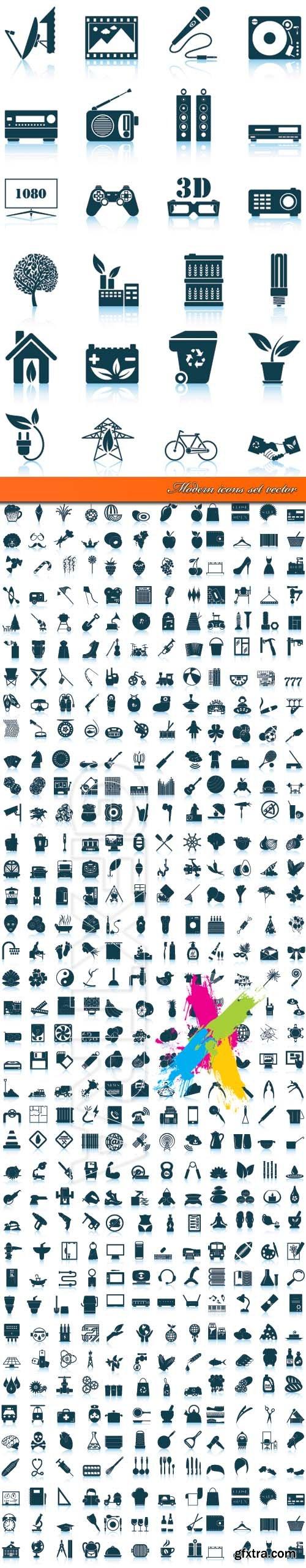 Modern icons set vector