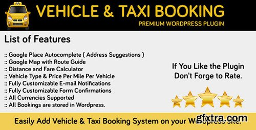 CodeCanyon - Vehicle and Taxi Booking v1.0 for Wordpress - 12143763