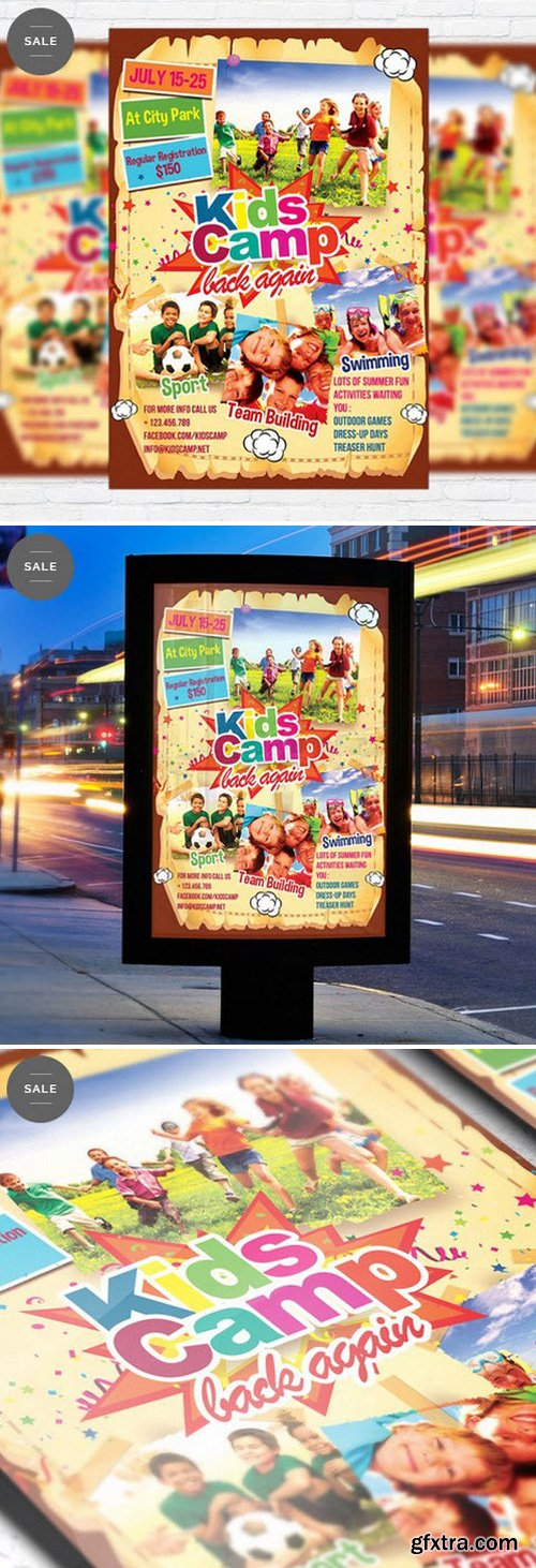 Kids Summer Camp – Business Flyer Psd Template