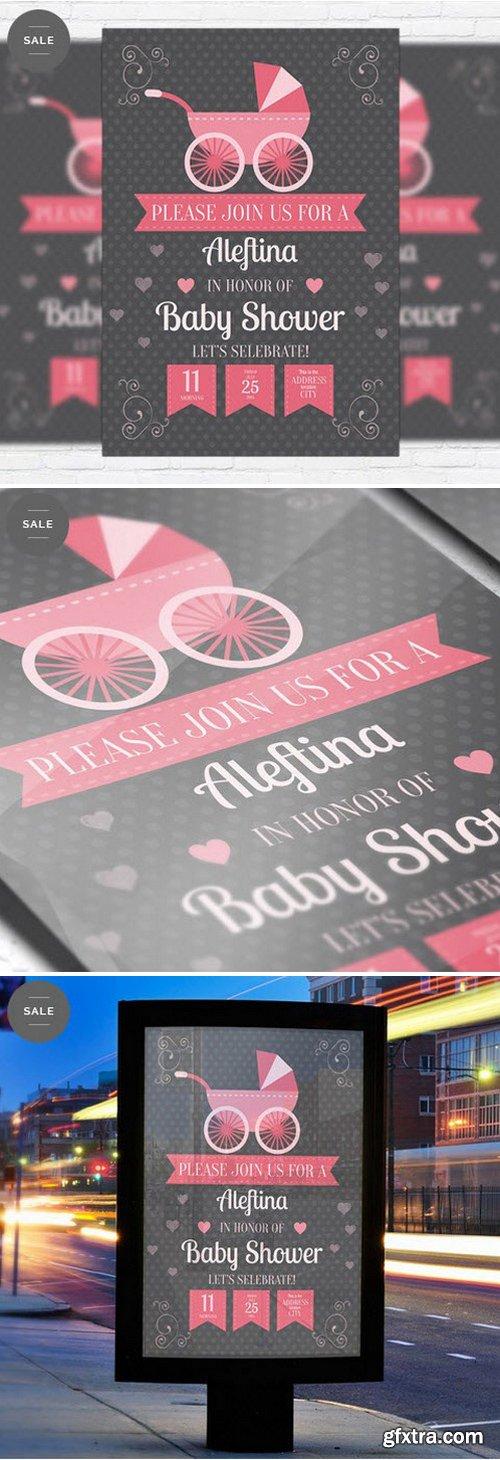 Baby Shower – Business Flyer Psd Template