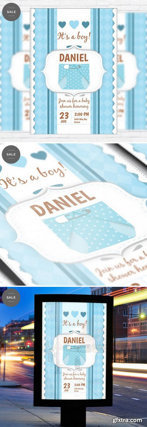 Baby Shower For Boy – Business Flyer Psd Template