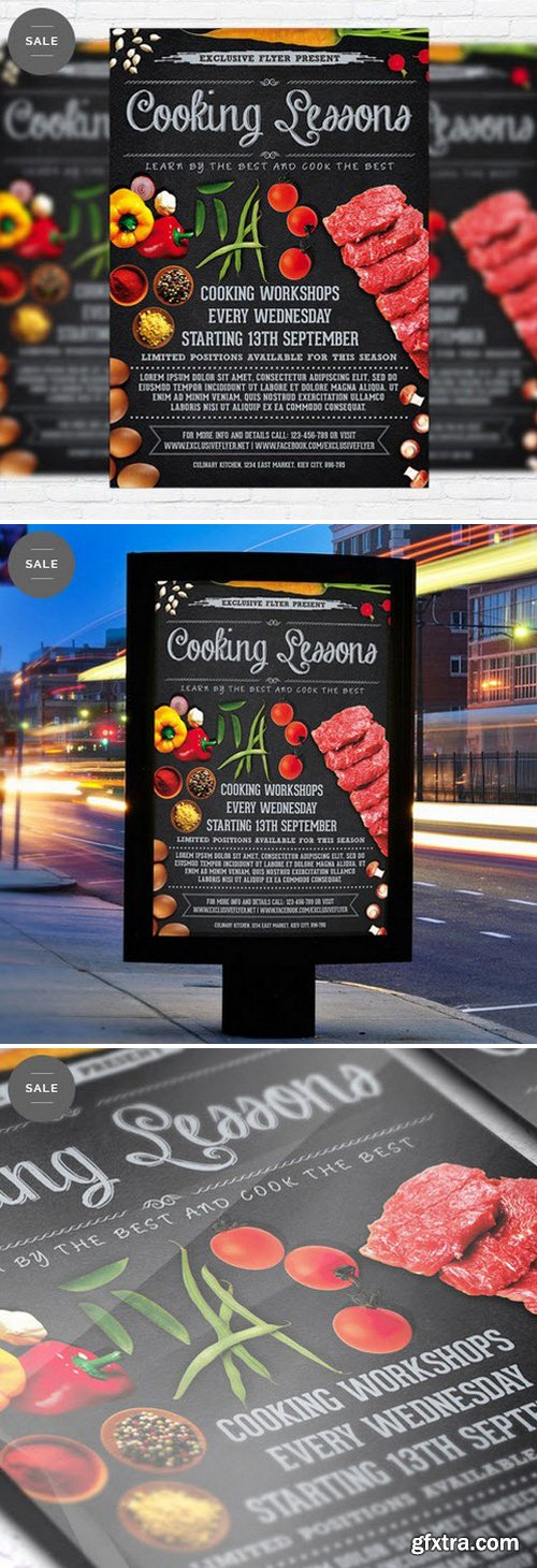 Cooking Lessons – Business Flyer Psd Template