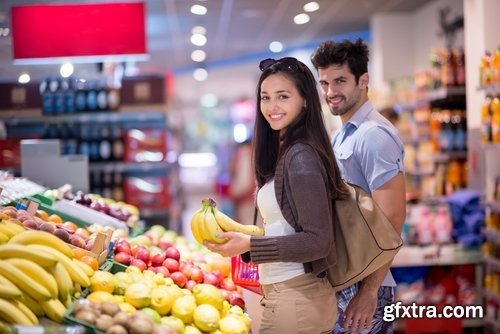 Collection of woman man family love people buying supermarket laptop #2-25 HQ Jpeg