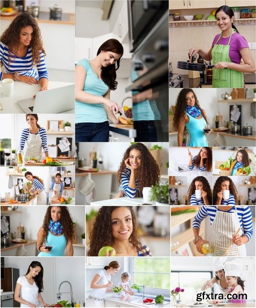 Collection of woman in the kitchen cooking baby 25 HQ Jpeg