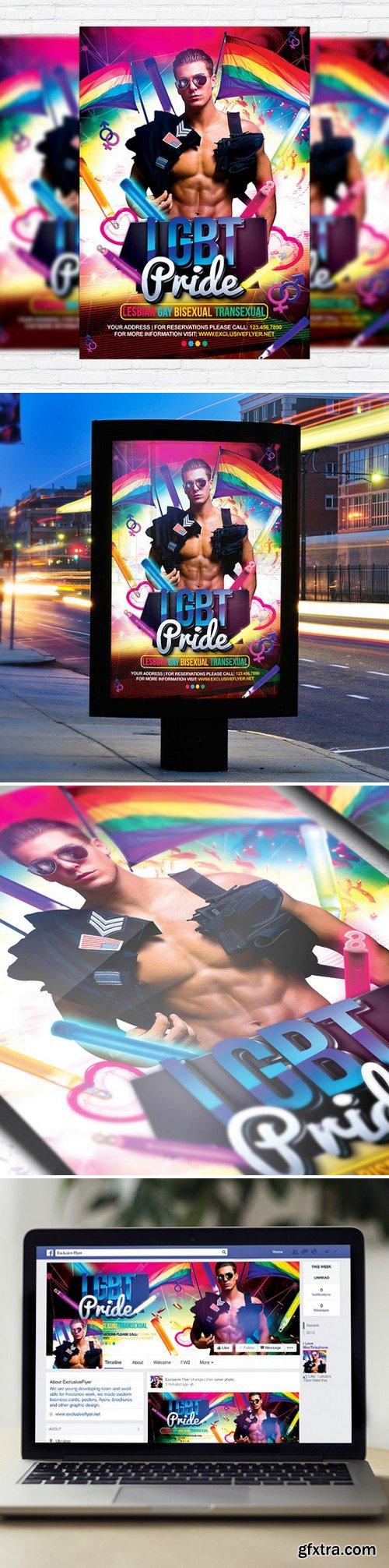 Lgbt Pride – Flyer Template + Facebook Cover