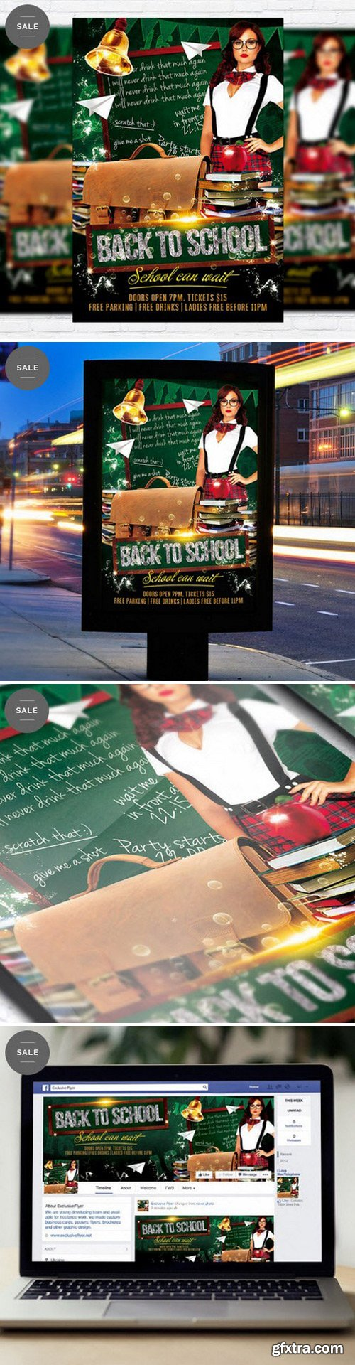 Back To School Vol.3 – Flyer Template + Facebook Cover