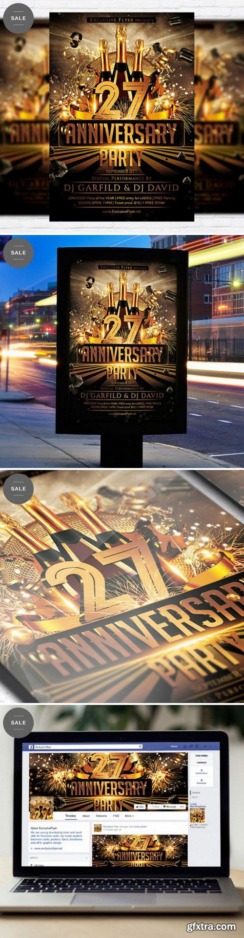 Anniversary Party – Flyer Template + Facebook Cover