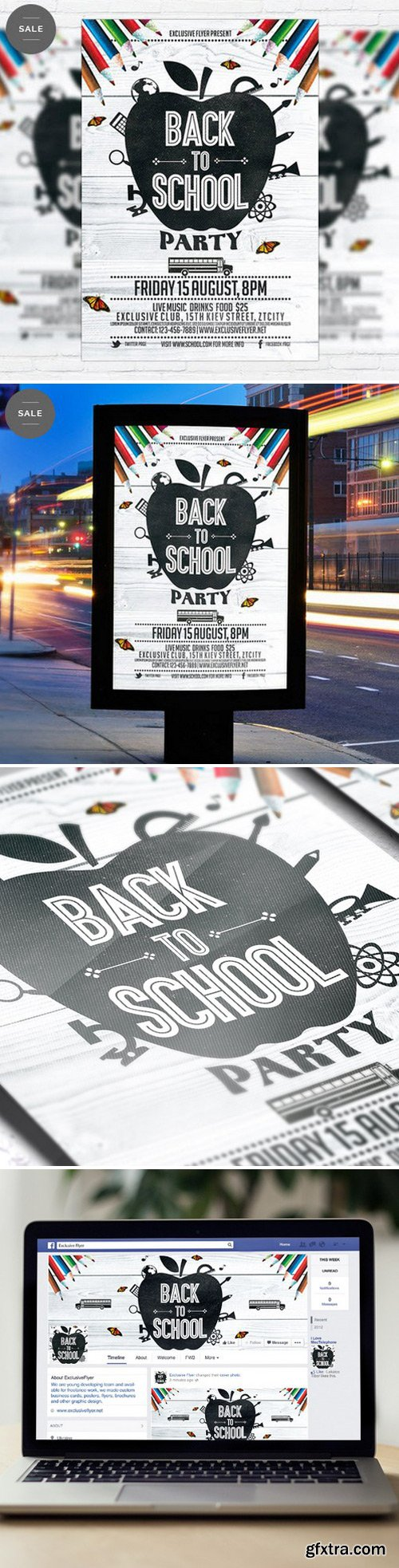 Back To School Party Vol.3 – Flyer Template + Facebook Cover