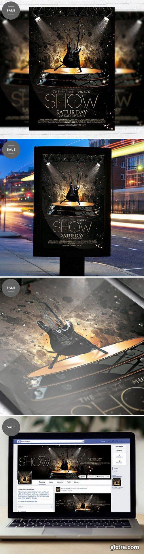 The Live Music Show – Flyer Template + Facebook Cover