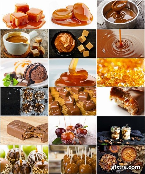 Collection of delicious caramel cake sweet candy 25 HQ Jpeg