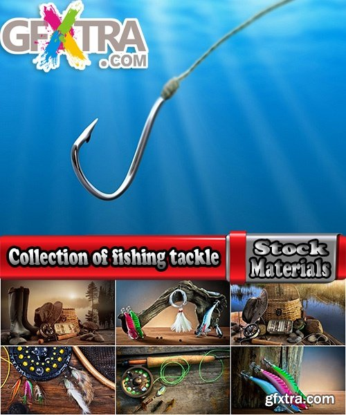 Collection of fishing tackle fishing rod spinning lure bait fishing hook lure 25 HQ Jpeg
