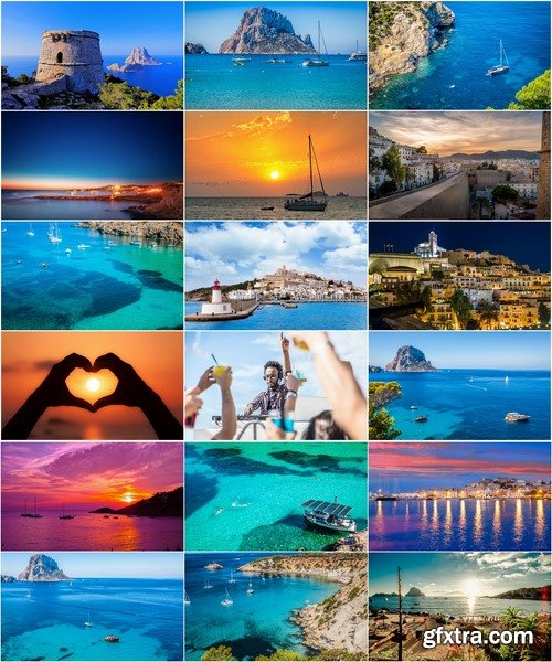 Collection resort landscape nature sea mountain beach bay of Ibiza town 25 HQ Jpeg
