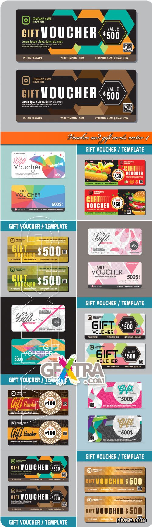Voucher and gift cards vector 4