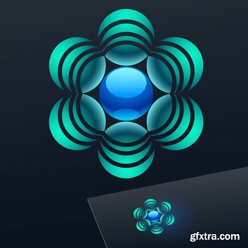 Abstract vector sign - 15 EPS